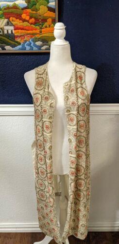 Soft Surroundings Embroidered Sequin Sleeveless Bo