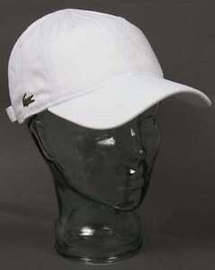 f14f70c2a Image is loading Lacoste-Gabardine-Baseball-Cap-in-White-curved-peak-