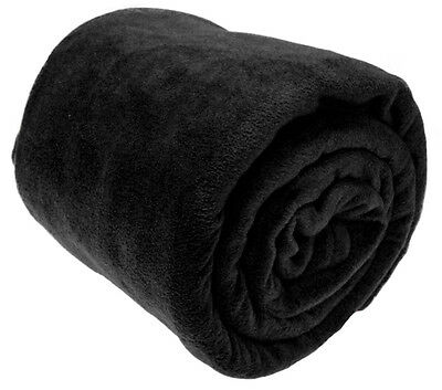 Luxury Warm Soft Large Fleece Sofa Bed Blanket Throw 8 Colours 3 Size Available