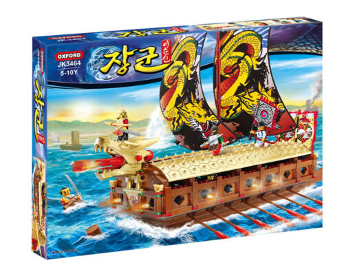 NEW JK3464 Korean Admiral Yi Sun-shin Turtle Ship OXFORD Building Toy Block