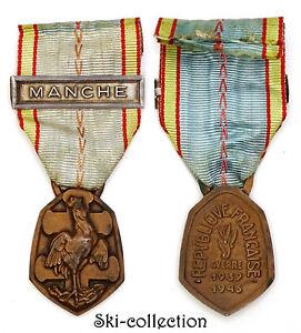 Medaglietta-Commemorativa-da-la-Guerre-1939-1945-Clip-Manche-WW2