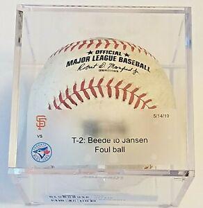 VLADIMIR-GUERRERO-JR-1st-hr-home-run-GAME-USED-baseball-5-14-MLB-Authenticated