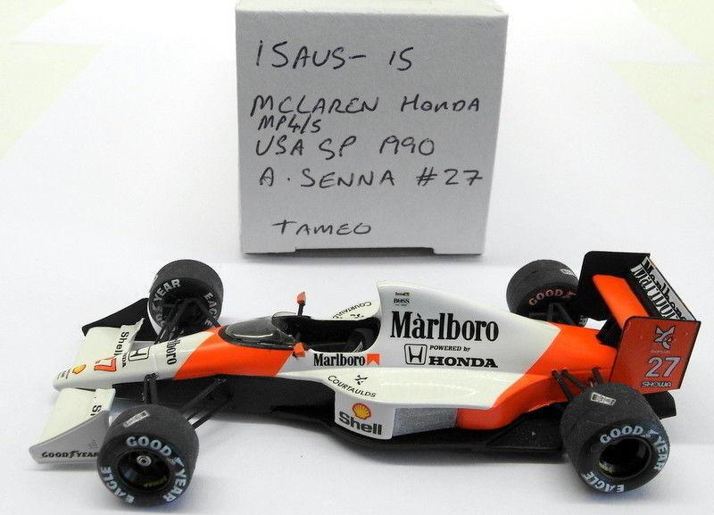Tameo 1 43 Scale built kit - 15AUG15 McLaren Honda MP4 5 USA GP 1990 A Senna