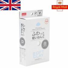 Daiso Soft Clay Bar White Colour for Slime Air Drying Lightweight