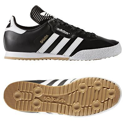 Adidas Originali UOMO Samba Super Scarpe da Ginnastica Nere Retrò Classico pelle | eBay