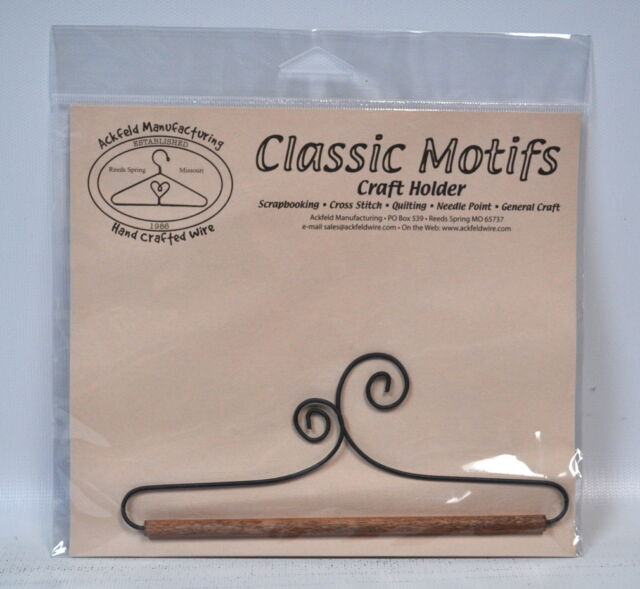 From Ackfeld Manufacturing NEW DOUBLE SCROLL 12 INCH QUILT HOLDER WITH DOWEL