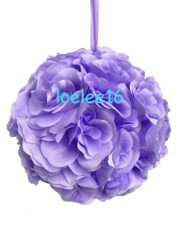 """7/"""" Flower Kissing Ball Wedding Silk Rose Party Pomander 20 Colors available"""