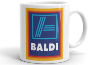 BALDI MUG Novelty Rude Cup Adult Baldy Gift Birthday Meme Xmas Gift Aldi Mug