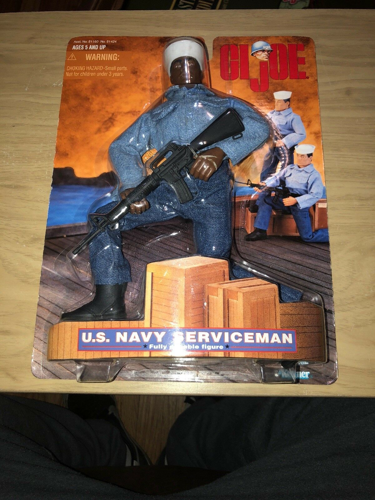 GI JOE US NAVY SERVICEMAN On Card 1997