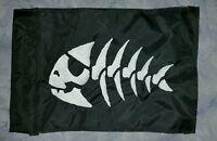 Custom Jolly Roger Fish Flag For Atv Dirt Bike Dune Safety Flag