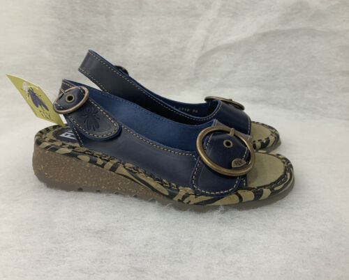 Ladies Fly London Tram723FLY Bridle Blue Size 38 Sale Price Was £84.99