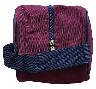 ACCLAIM New Beal Shoe Boot Bag Trimmed Burgundy OR Navy Zipped Top 14 x 6 x 5