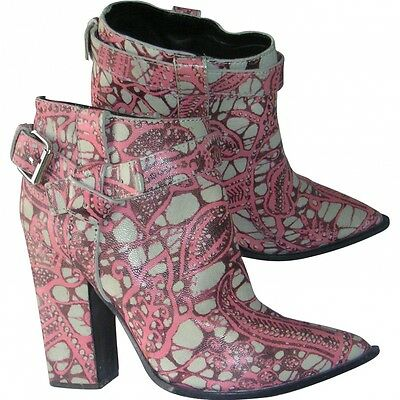 **THAKOON** Printed Leather Ankle Boots **£695.00**