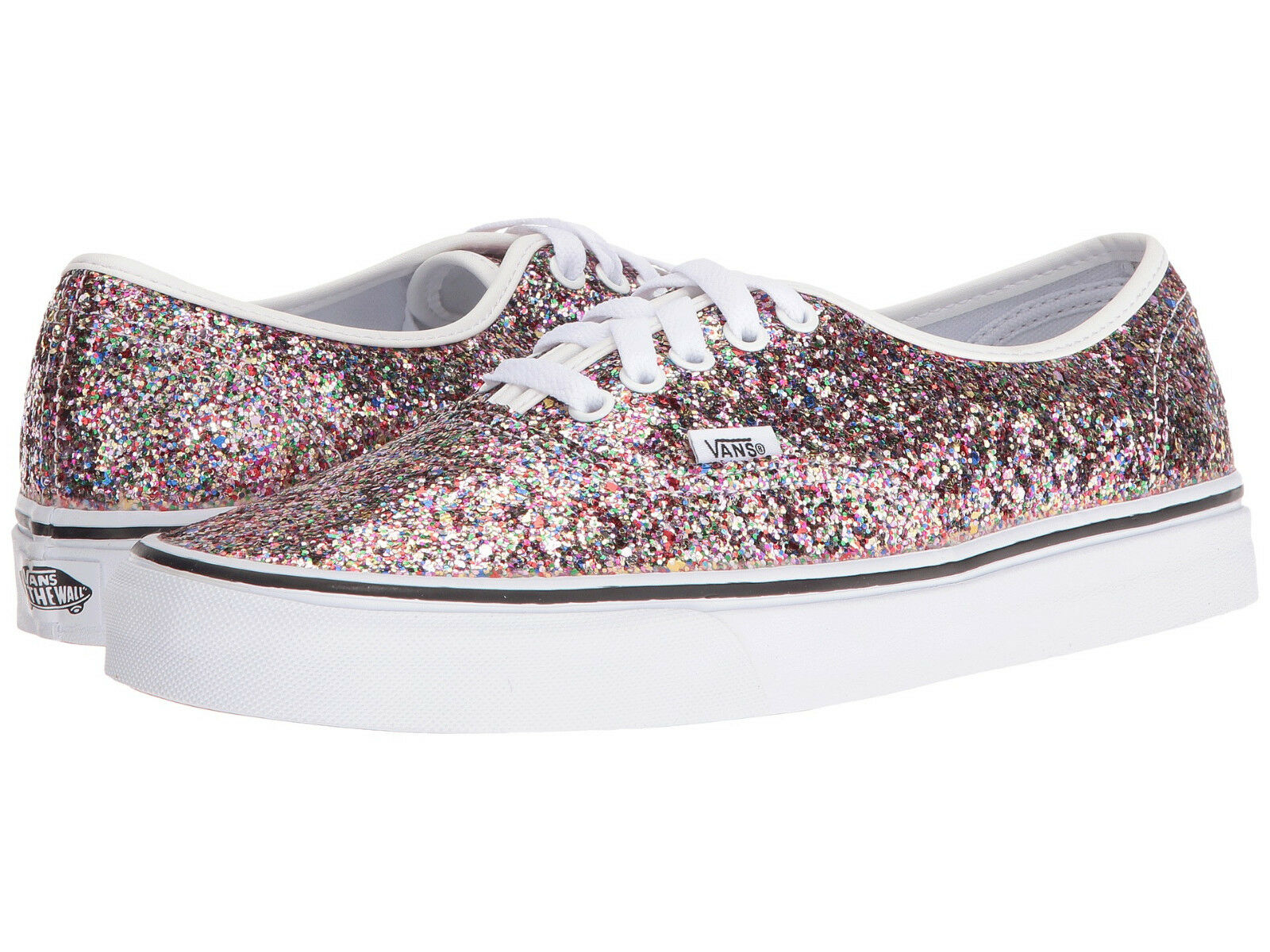 NIB Vans AUTHENTIC (CHUNKY GLITTER) TRUE WEISS Damens Schuhes