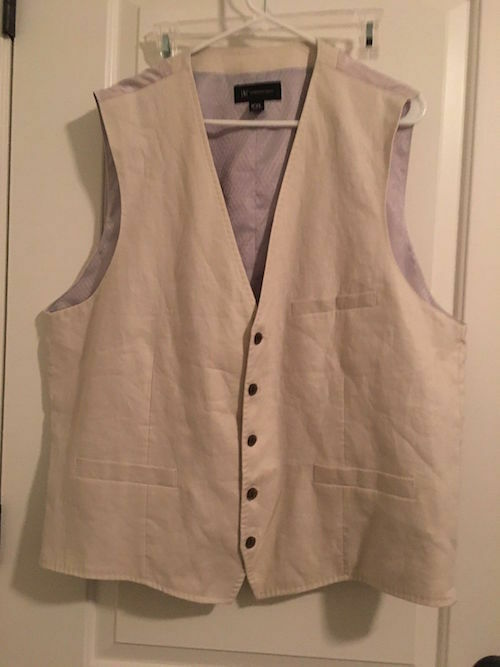 International Concepts Men's Formal Business Dress Vest Top 1 Pc Sz XXL Clothes