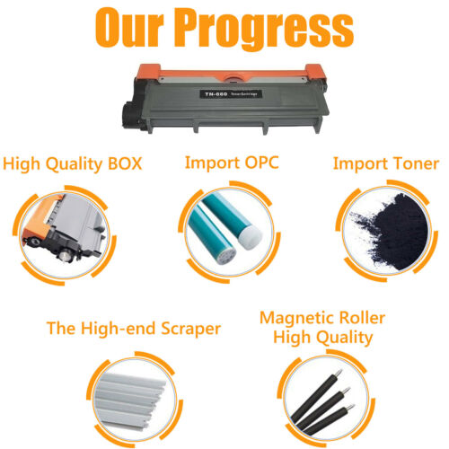 12x High Yield TN660 TN630 Toner Cartridge HL-L2300D For Brother DCPL2540DW