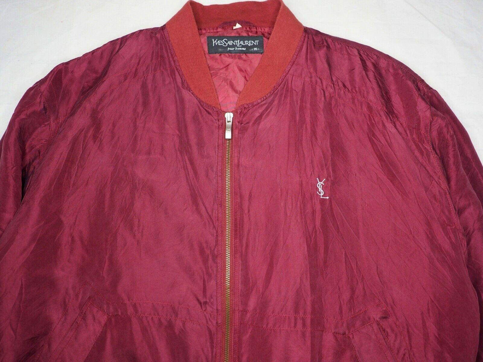 YSL Yves Saint Laurent bomber jacket short coat w… - image 2