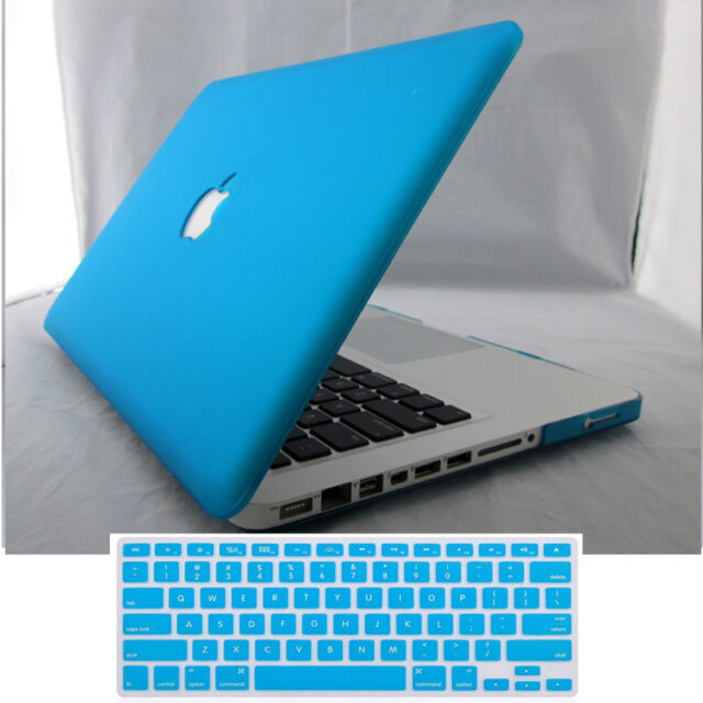 "Rubberized Matt Hard Case+Keyboard Skin for MacBook Air 11""/ White/ Pro 13"" 15"""