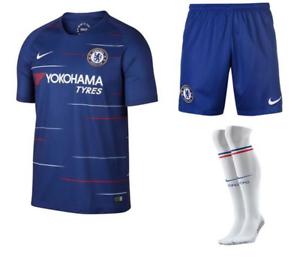 e194cf503 Image is loading Nike-Chelsea-Home-Kit-Shirt-2018-19-Kids