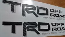 TRD Off Road 4x4, toyota tacoma tundra decal Sticker fiber carbono (set)