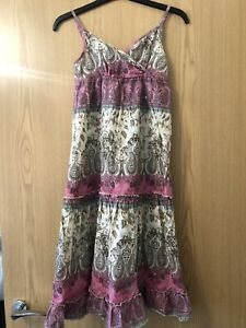 NEW New Look Red Blue Paisley Soft Viscose Summer Strappy Dress Age 9 Years