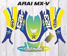 ARAI MX-V Helmet Wrap Graphics KIT Stickers Customised motocross gopro KTM