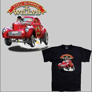 Vintage Garage Hot Rod Oldtimer Race Dragster Auto  Motiv T-Shirt *1141 bl