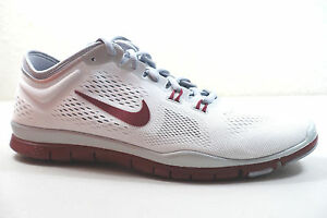 930c801e1353 NIKE WOMEN S FREE 5.0 TR FIT 4 TEAM SHOES SIZE 11.5 white red grey ...