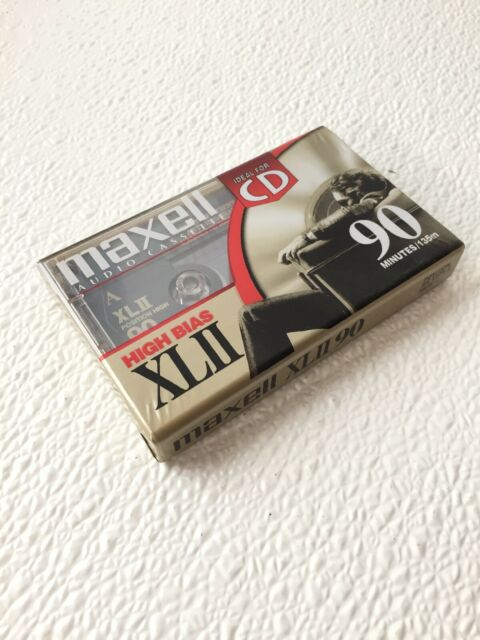 Maxell Audio Cassette Ideal for CD High Bias XLII 90 Minutes