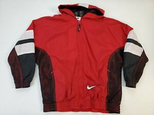 Details about Nike Air Swoosh Vintage 90s Mesh Nylon Windbreaker Jacket Youth Size M 10 12