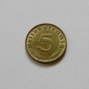 """Tercer Imperio: 5 Reichspfennig 1938 B,J. 363 ,Recién Acuñado / UNC ,Cerrado"""" 8"""""""