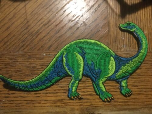"""Large Dinosaur  Embroidered Patch 6.5"""" x 3.5"""" Sew or Iron On"""