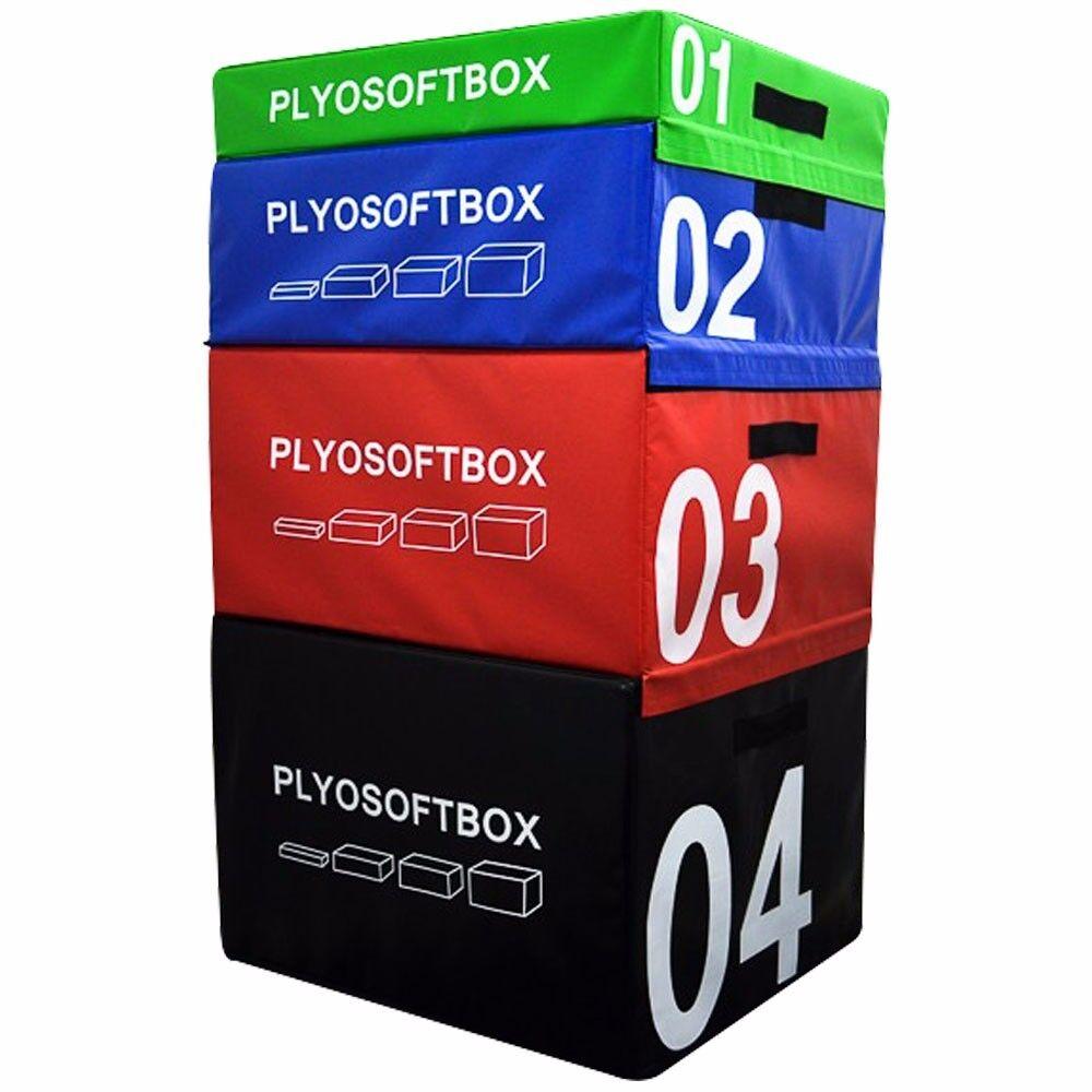 Plyometric Jump Box Soft Foam Velcro Training Gym Fitness Fitness Fitness Crossfit Jumping Set f499d7
