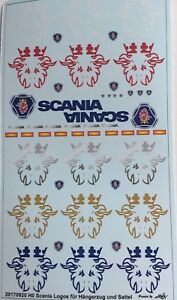 Scania Logos Pour Hängerzug Et Selle Décalques 1:87 Ou H0-afficher Le Titre D'origine