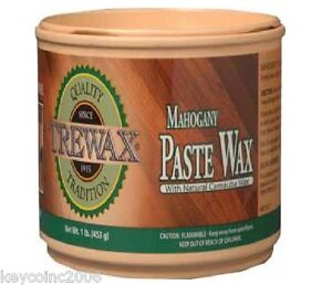 Trewax Mahogany Paste Wax 1 Lb For Hardwood Floors
