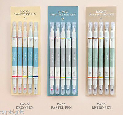 Two Way Marker Pen Color+Pastel+Retro 15 Pens Diary Planner Scrapbook Decor Pen