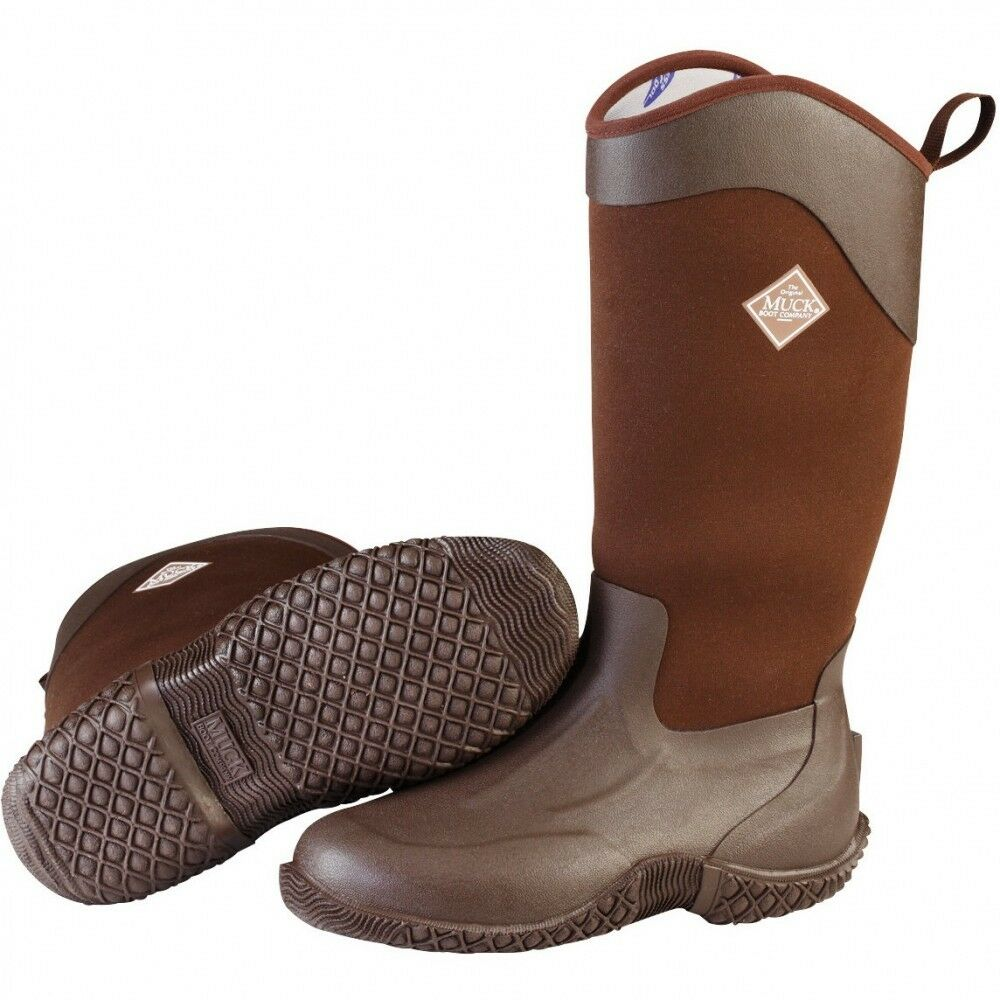 Muck Boots Company Women's TACK II HI TALL, CHOCOLATE BROWN, Neoprene Rubber