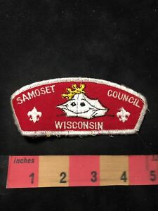 BSA-Boy-Scouts-WISCONSIN-SAMOSET-COUNCIL-Shoulder-Patch-O89P