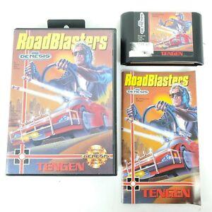 ROADBLASTERS-SEGA-Genesis-Complete-in-Box-CIB-Authentic-Tested