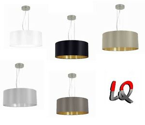 Eglo-Maserlo-Haengelampe-Pendelleuchte-Lampe-Leuchte-Stoff-Textil-ohne-mit-LED