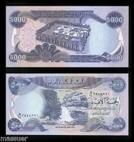 50,000 Iraqi Dinar 10 X 5,000 Dinar -  Crisp Uncirculated - Lot of 10 Notes