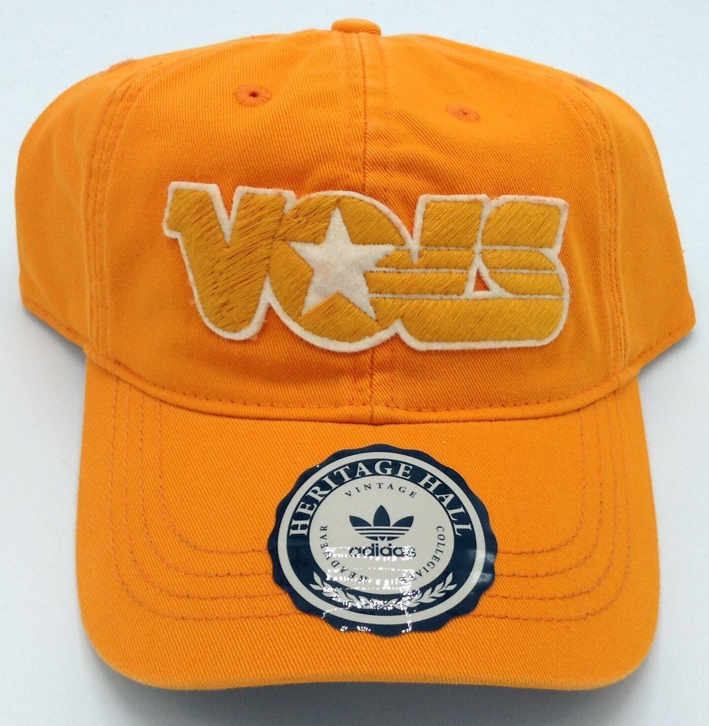 NCAA Tennesse Volunteers Adidas Vintage Cuero Broche Dorso Gorro Estilo  Eu71z