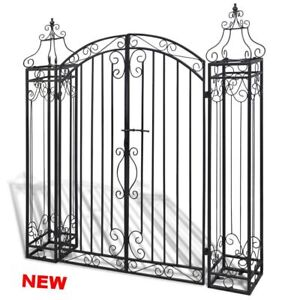 Image Is Loading Double Garden Gate Swing Entry Wrought Iron Fence