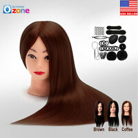 24 Hair Training Practice Head Mannequin Hairdressing Or Braid Tool Set A+