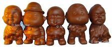 Chinese Terracotta Pee Pee Boy Statues - Set of Five - Tea Ceremony