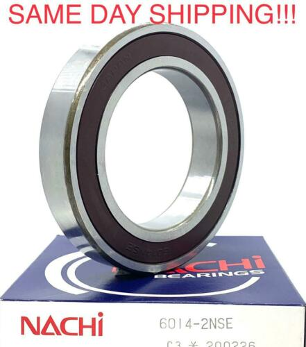 NACHI 6014-2NSE  C3 Deep Groove Ball Bearings 70x110x20mm 6014 2RS MADE IN JAPAN