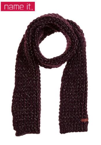 MAGLIA-SCIARPA name-IT 160 x 23 cm Rosso Vinaccia//Argento Kp 14,99 € SALE/%/%/% NUOVO!!