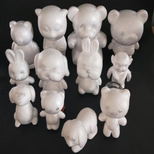 White Polystyrene Styrofoam Foam Bear Dog Rabbit Modelling DIY Fast delivery