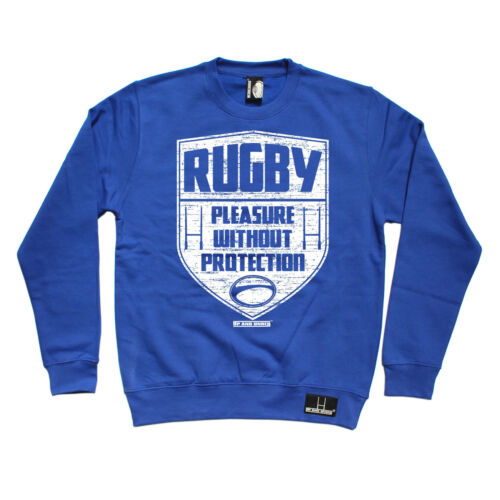 Rugby Pleasure Without SWEATSHIRT jumper rugga team sweat top birthday gift 123t