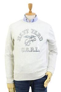 Polo-Ralph-Lauren-Crew-Pullover-Sweatshirt-w-Naval-Yard-l-grey